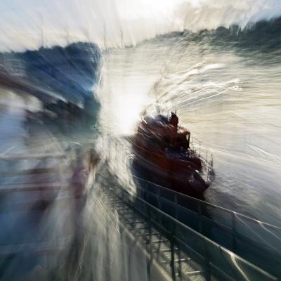 15-Saint-Valéry-en-Caux. Bateaux de sauvetage en mer. TIRAGE 1/1 DISPONIBLE