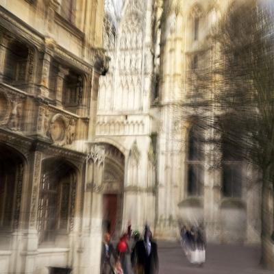 23-Rouen. Parvis de la Cathédrale. TIRAGE 1/1 DISPONIBLE