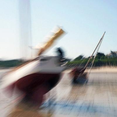 Bateaux sur le plage de Landunvez (1) Tirages disponibles