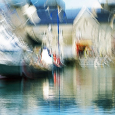 Port-en-Bessin. Le port. Poème Retour. Format 90/60cm. 1 sur 5 disponible