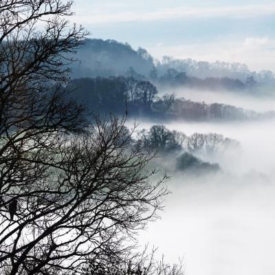 Vallée de Montpinçon sous la brume