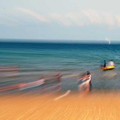 Sirène sur la plage. 40/60cm. 10 tirages disponibles