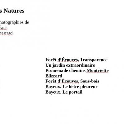 Vibrations Natures