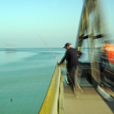 Courseulles-sur-Mer. Le pêcheur