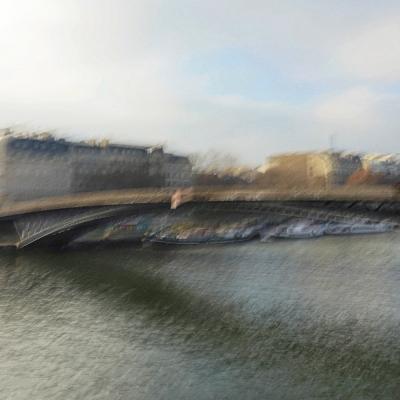 Paris. Passerelle Léopold-Sédar-Senghor
